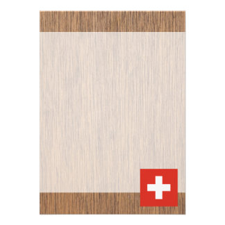 Retro Switzerland Flag Card