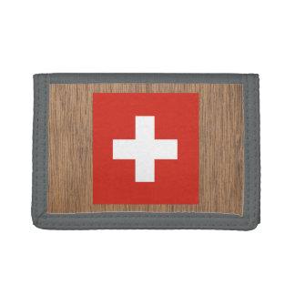 Retro Switzerland Flag Tri-fold Wallet