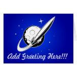 Retro Swoosh Greeting Card