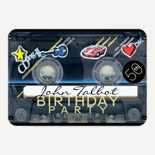 Retro T3 Audiotape 50th birthday Party Invitation