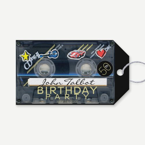 Retro T3 Audiotape 50th Birthday Thank You Gift T Gift Tags