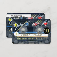 Retro T3 Audiotape Cassette with decals DJ Busines Business Card