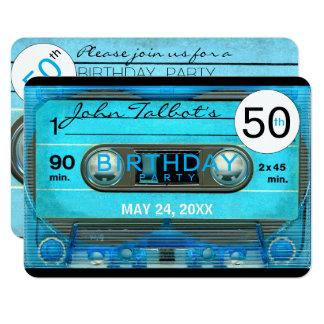 Retro T4 Audiotape 50th birthday Party Invitation