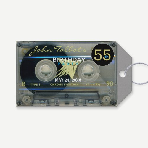 Retro T5 Audiotape 55th Birthday Thank You Gift T Gift Tags