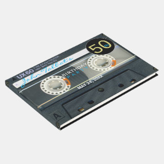 Retro T6 Audiotape 50th birthday Party Guest Book
