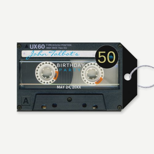 Retro T6 Audiotape 50th Birthday Thank You Gift T Gift Tags