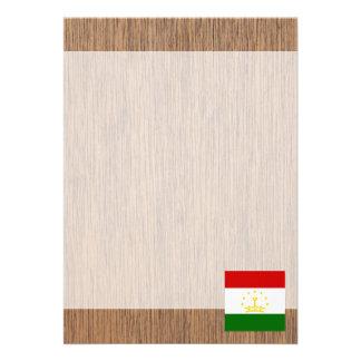 "Retro Tajikistan Flag 5"" X 7"" Invitation Card"