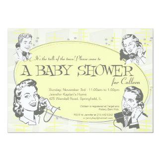 Retro Talk of the Town Baby Shower Invitation