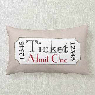 Retro Tan Movie Ticket Cinema Pillow
