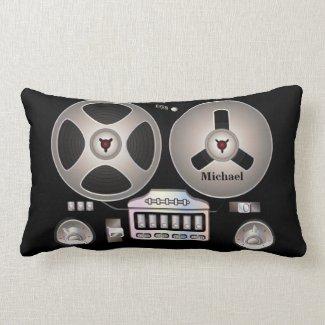 Retro Tape Recorder Magnetophone Pillow