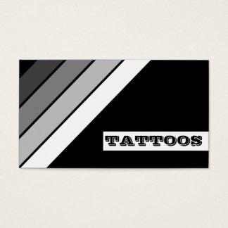 retro TATTOO stripes loyalty card