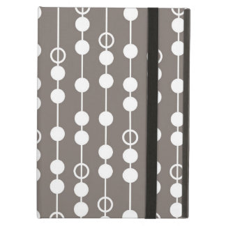 Retro Taupe and White Design iPad Air Cover