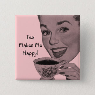 Retro Tea Pinback Button