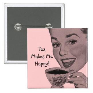 Retro Tea Pinback Button