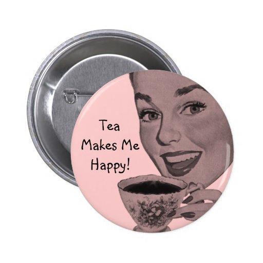 Retro Tea Pinback Buttons