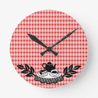 Retro Tea V2 Round Clock