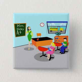 Retro Teacher Button
