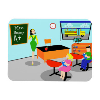 Retro Teacher Flexible Magnet