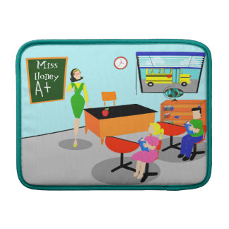 Retro Teacher MacBook Air Sleeve