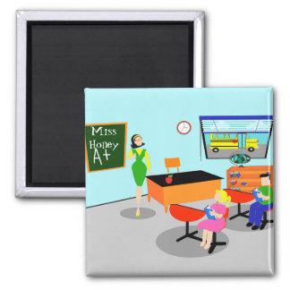 Retro Teacher Magnet