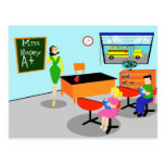 Retro Teacher Postcard