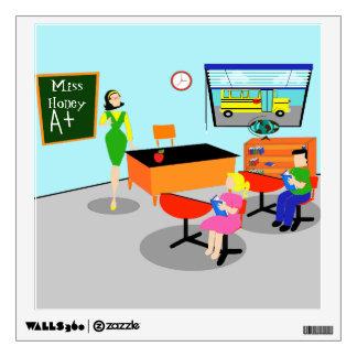 Retro Teacher Wall Decal