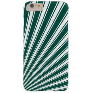 Retro Teal green Funky Sun Rays Background Barely There iPhone 6 Plus Case