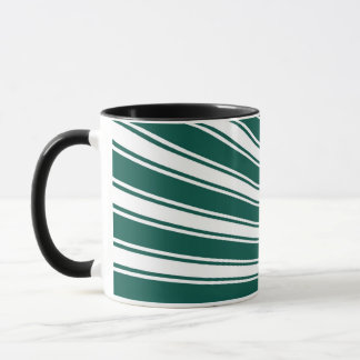 Retro Teal green Funky Sun Rays Background Mug