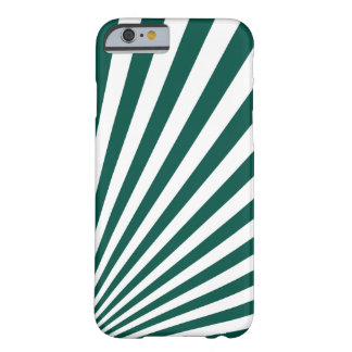 Retro Teal green Sun Rays Background Barely There iPhone 6 Case