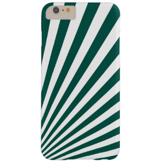 Retro Teal green Sun Rays Background Barely There iPhone 6 Plus Case