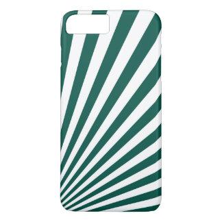 Retro Teal green Sun Rays Background iPhone 8 Plus/7 Plus Case