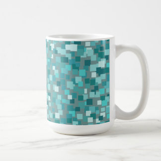 Retro Teal Squares Mug