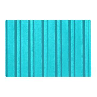 Retro Teal Stripe Placemat