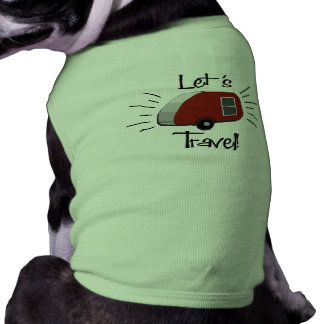Retro Teardrop Camper Dog Shirt