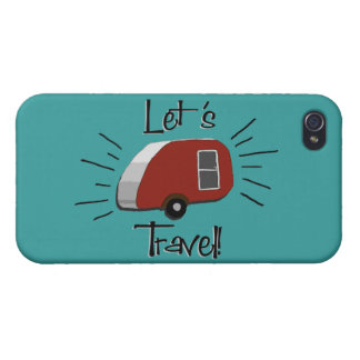 Retro Teardrop Camper iPhone 4 Case