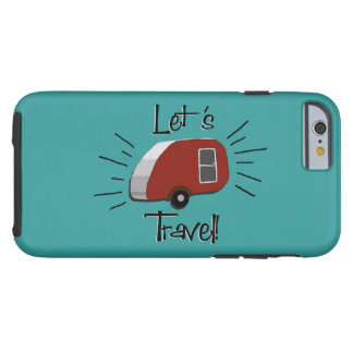 Retro Teardrop Camper iPhone 6 Case