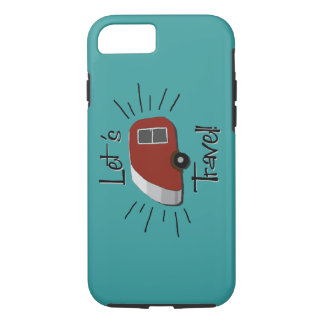 Retro Teardrop Camper iPhone 7 Case