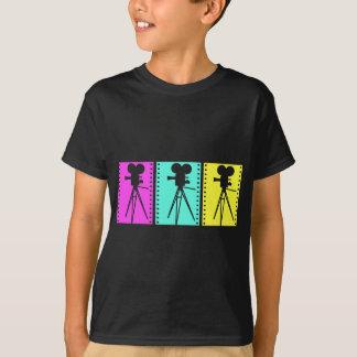 Retro Technicolor Camera Dark T-shirt