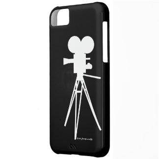 Retro Technicolor Movie Camera Silhouette Cover For iPhone 5C