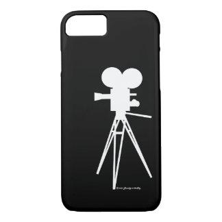Retro Technicolor Movie Camera Silhouette iPhone 8/7 Case