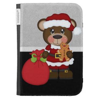 Retro Teddy Bear Christmas Kindle Keyboard Case