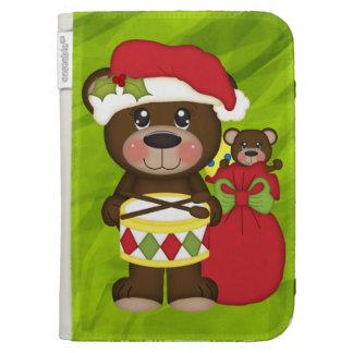 Retro Teddy Bear Christmas Kindle Cases
