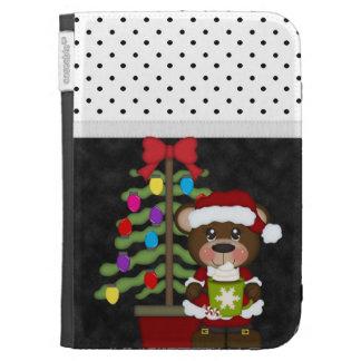 Retro Teddy Bear Christmas Kindle 3 Case