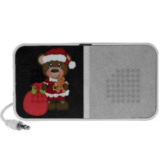 Retro Teddy Bear Christmas iPod Speakers