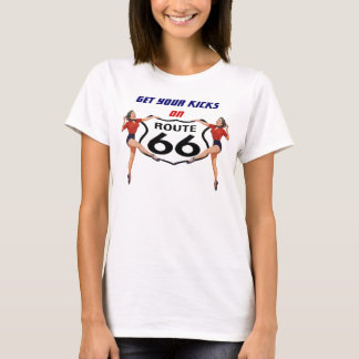 RETRO TEE T-SHIRT GET YOUR KICKS ON ROUTE 66