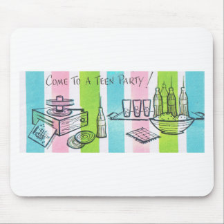 Retro Teenage Birthday Party Mousepads