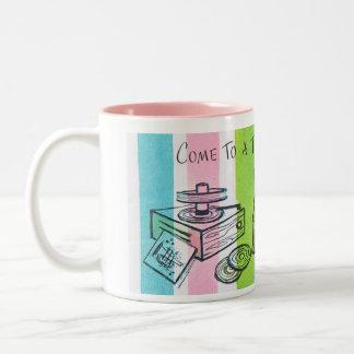 Retro Teenage Birthday Party Two-Tone Coffee Mug