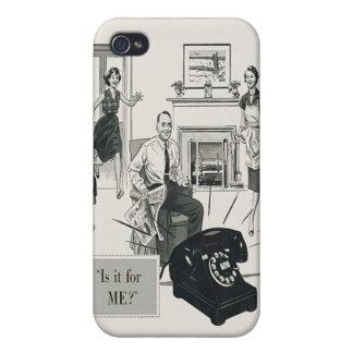 Retro Telephone Ad Family Midcentury Modern Case For iPhone 4