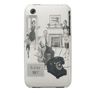 Retro Telephone Ad Family Midcentury Modern iPhone 3 Case-Mate Case