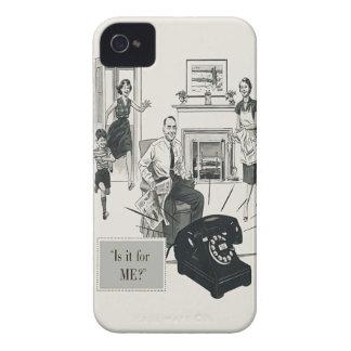 Retro Telephone Ad Family Midcentury Modern iPhone 4 Cover